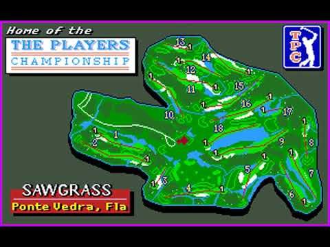PGA Tour Golf (Players Championship at TPC Sawgrass) (Sterling Silver) (MS-DOS) [1990] [PC Longplay]