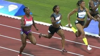 Allyson Felix beats Fraser and Brown in 100m - from Universal Sports