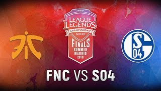 FNC vs. S04 - Finals Game 4 | EU LCS Summer Finals | Fnatic vs. FC Schalke 04 (2018)