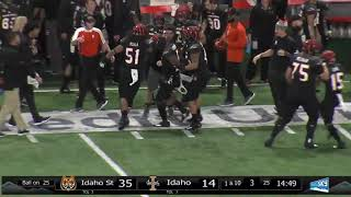 ISU Football vs Idaho - Final Game Highlights