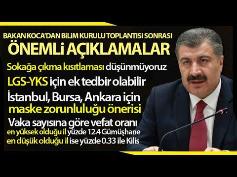 """Sağlık Bakanı Fahrettin Koca; """"Kara Göründü Ama Deniz Hala Dalgalı"""""""