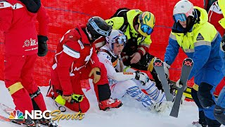Lindsey Vonn crashes in final Super-G of career at World Championships | NBC Sports