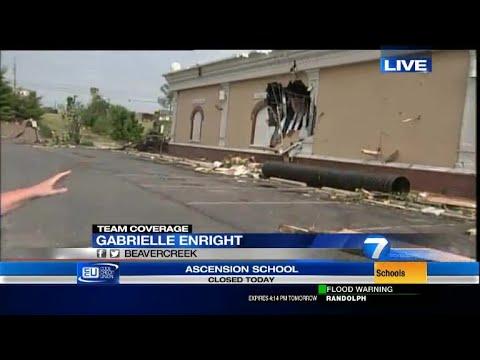 WATCH: Tornado damage on North Fairfield in Beavercreek