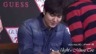 Lee Min Ho 20141017 GUESS  팬사인회 part2