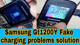 Samsung e1200 Charging Paused For Battery Durrability Problum 100
