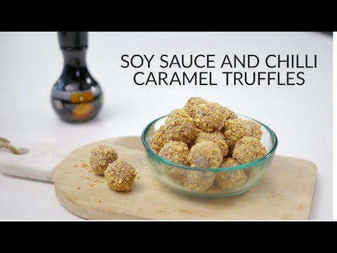 Anna Hansen's Milk chocolate, soy sauce and Urfa chilli caramel truffles