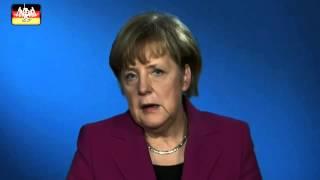 Neulich im Bundestag: Merkel mit Kleber
