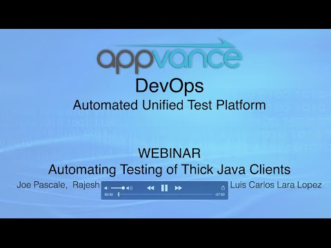 Webinar: Automating Testing of Thick Java Clients