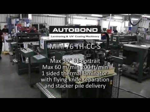 Autobond Mini 76 THCCS - on test for USA customer