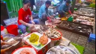 Wet Market In Cambodia 2019 - Amazing Street Food In Phnom Penh Village Food