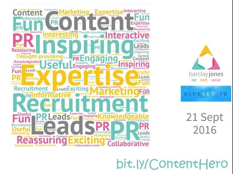 Recruitment Marketer Niomi Cowling reviews Content & PR Event (BlueSky and Barclay Jones) 19 October