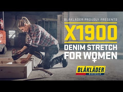 Blåkläder proudly present - X1900 DENIM STRECH FOR WOMEN