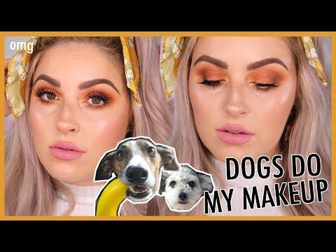 MY DOGS PICK MY MAKEUP!! ?? Makeup Challenge ?