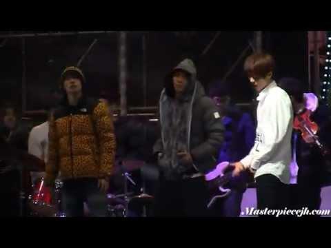111229 Pre-debut EXO's Luhan rehearsing (with Eunhyuk, Taemin, Jonghyun) @ SBS GAYO DAEJUN 2011