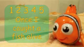 Number Song | 12345 Once I Caught A Fish Alive | Kiddiezone