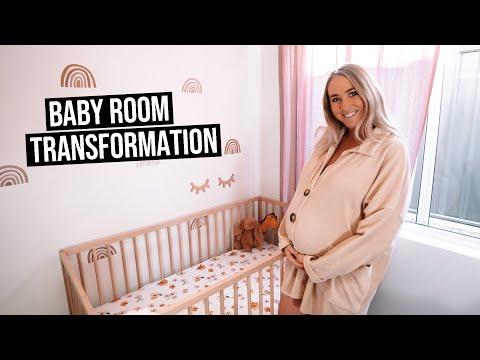 BABY GIRL NURSERY TOUR | Baby Room Transformation