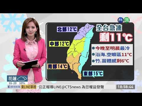 冷氣團發威越晚越冷! 低溫下探11度 | 華視新聞 20191202