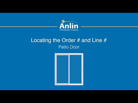 Locating the Order Number on Your Anlin Patio Door