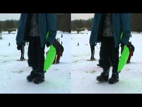 3D HD - Snow, a snowman and skiing in Wimbledon, London!