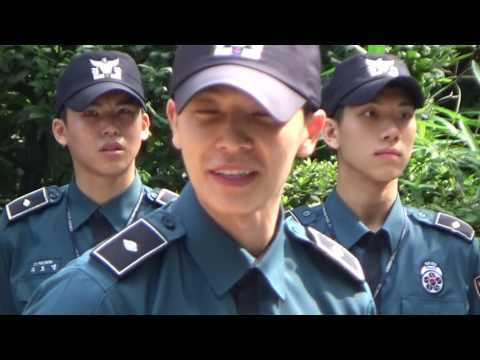 170714 Donghae discharged + Eunhae Century Hug at SMPA