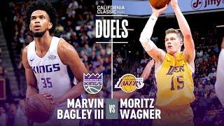 Marvin Bagley & Moritz Wagner Duel In 2018 NBA Summer League Debut!