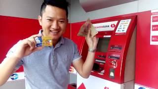 LEOKingdom LEOcoin Khởi Nghiệp: Rút Tiền LEO MasterCard từ ATM Techcombank.