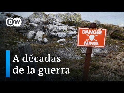 Detonan las últimas minas en Malvinas