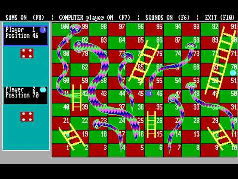 Snakes and Ladders (Sue Pardoe) (MS-DOS) [1993] [PC Longplay]