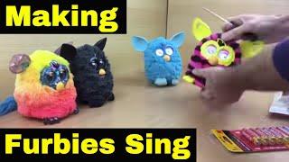 5 Furbies Singing in Harmony!! Furby singing!