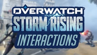 Overwatch - All Storm Rising Interactions