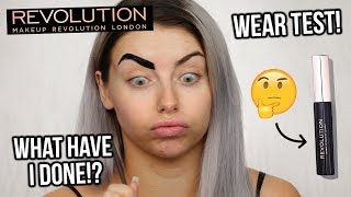 TESTING MAKEUP REVOLUTION BROW TINT (ALL SHADES) + WEAR TEST!