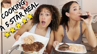 Cooking a BOUJEE dinner w/ my BEST FRIEND!
