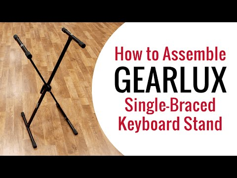 Gearlux Single-Braced Keyboard Stand Assembly