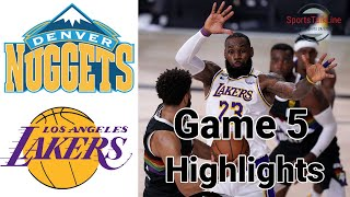 Nuggets vs Lakers HIGHLIGHTS Full Game | NBA Playoff Game 5