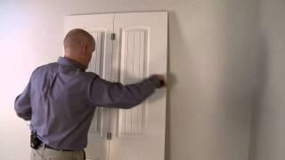Installation D Une Porte Pliante Interieure Youtube