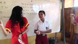 KKN teach english language with beautiful teacher 1