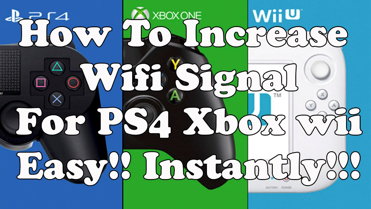 viral video how to increase wifi signal for ps4 xbox ps3 wii easy instantly youtube. Black Bedroom Furniture Sets. Home Design Ideas