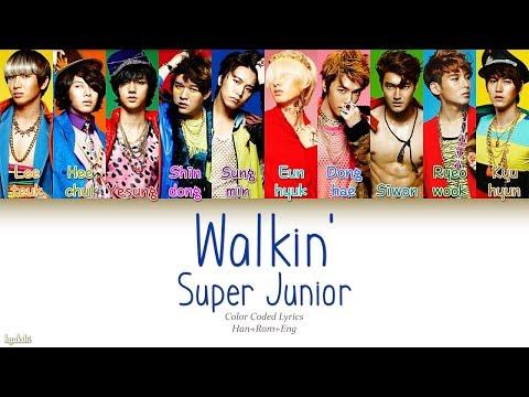 Super Junior (슈퍼주니어) – Walkin' (Color Coded Lyrics) [Han/Rom/Eng]