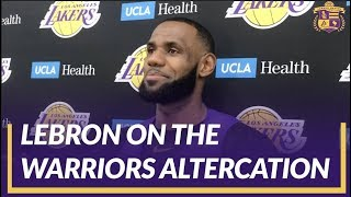 Lakers Interview: LeBron was Asked About The  Altercation In Golden State Between Draymond and KD