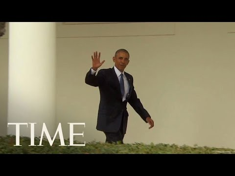 President Obama Leaves The Oval Office For The Last Time   TIME