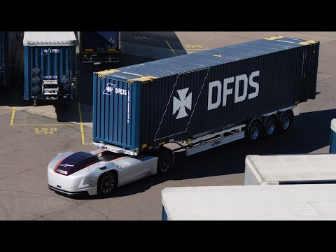 Volvo Trucks - Running footage of autonomous vehicle Vera on public roads and in a port terminal
