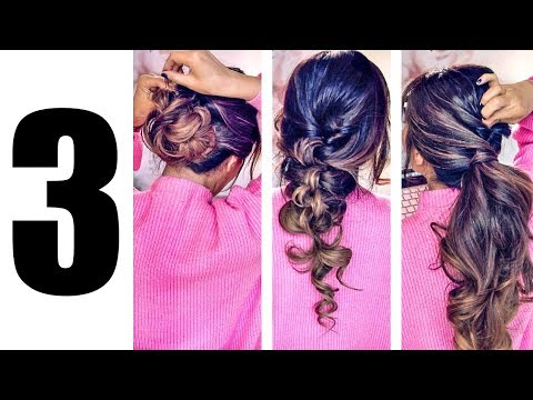 ★ 3 LAZY ELEGANT HAIRSTYLES Transformation 2018 ? EASY EVERYDAY UPDO Hairstyle for Medium Long Hair