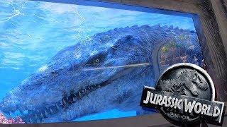 Jurassic World The Ride - Full Front Seat POV - Universal Studios Hollywood Theme Park - 2019
