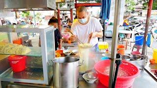 大草场旁美食街童年回忆古早味猪油渣扎实云吞云吞面串串烧卖点心大包包子富贵面生日面淋面 Padang Brown Hawkers Stalls Street Food Malaysia