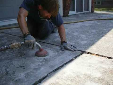 A-1 Concrete Leveling Video of Driveway Leveling Project