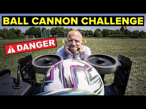 ULTIMATE BALL CANNON CHALLENGE | Unisport football challenges