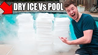 1,500 POUNDS OF DRY ICE Vs POOL CHALLENGE! 😮