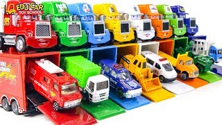 Learning Color Disney Cars Lightning McQueen Mack Truck city vehicles Play for kids car toys