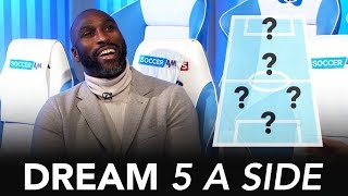 Thierry Henry or Dennis Bergkamp; who'd score more goals in 5-A-Side? | Sol Campbell Dream 5-A-Side