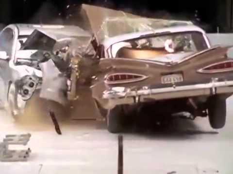 2009 Chevy Malibu vs 1959 Bel Air Crash Test   YouTube1
